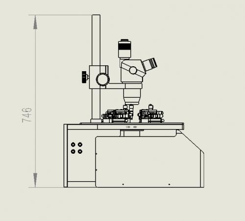 室温自动探针台尺寸图