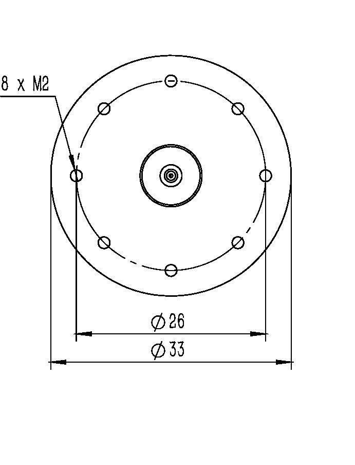 旋转纳米位移台RF-33A尺寸图1