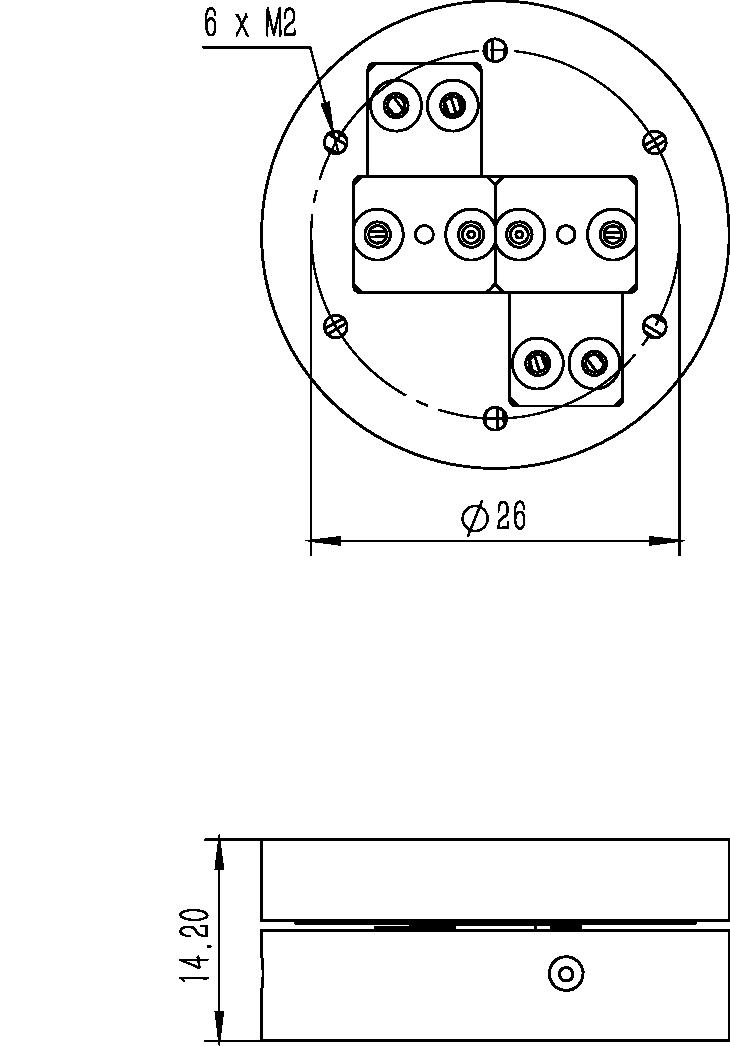 旋转纳米位移台RF-33A尺寸图2