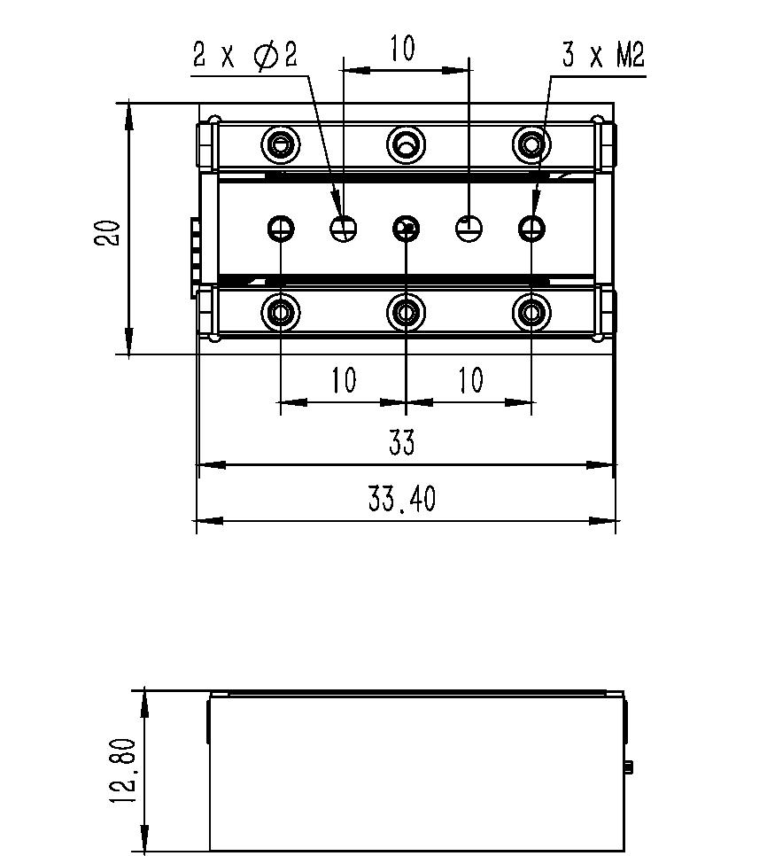 直线纳米位移ML-15A尺寸2