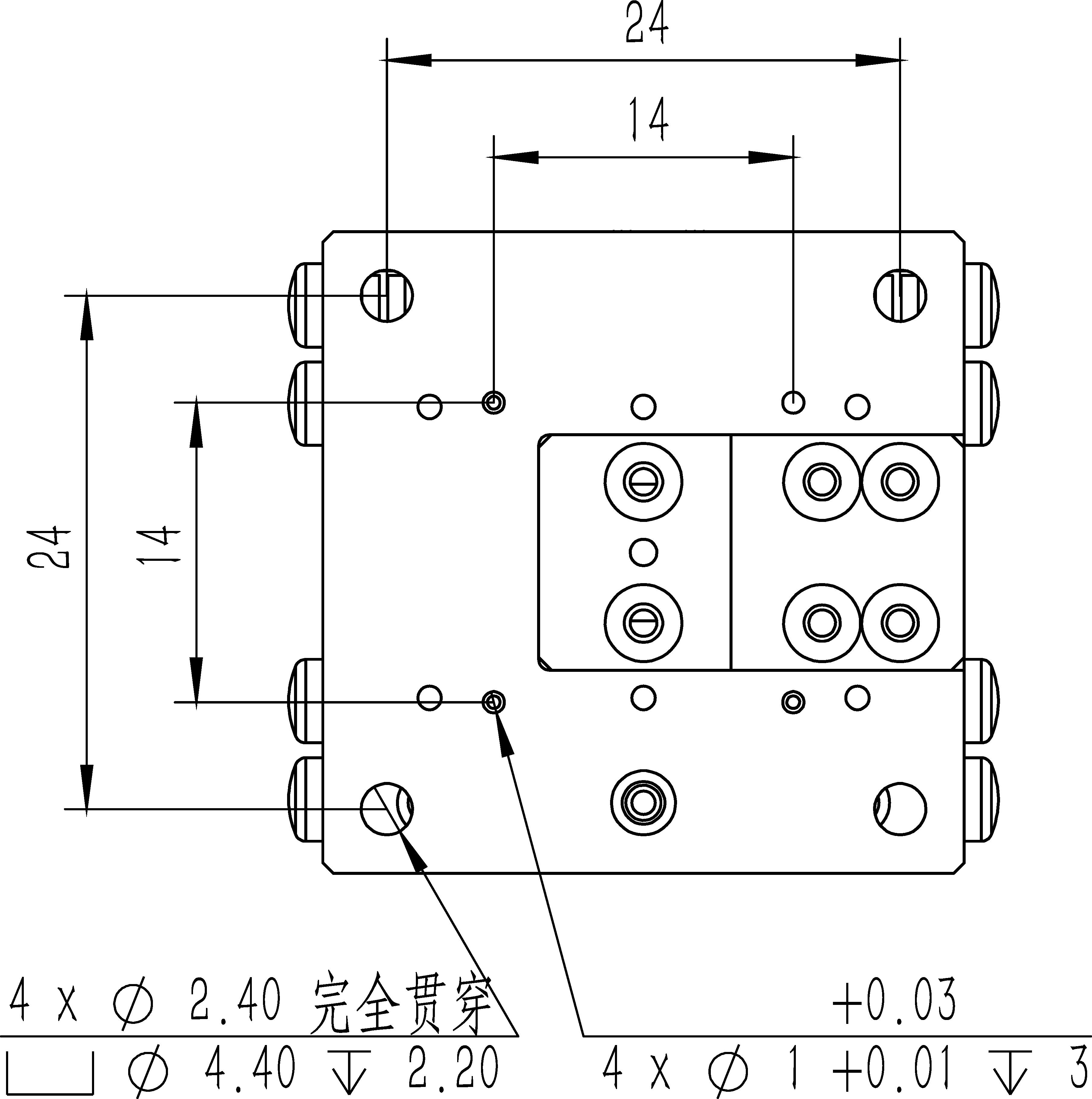 直线纳米位移MF30-20A尺寸2