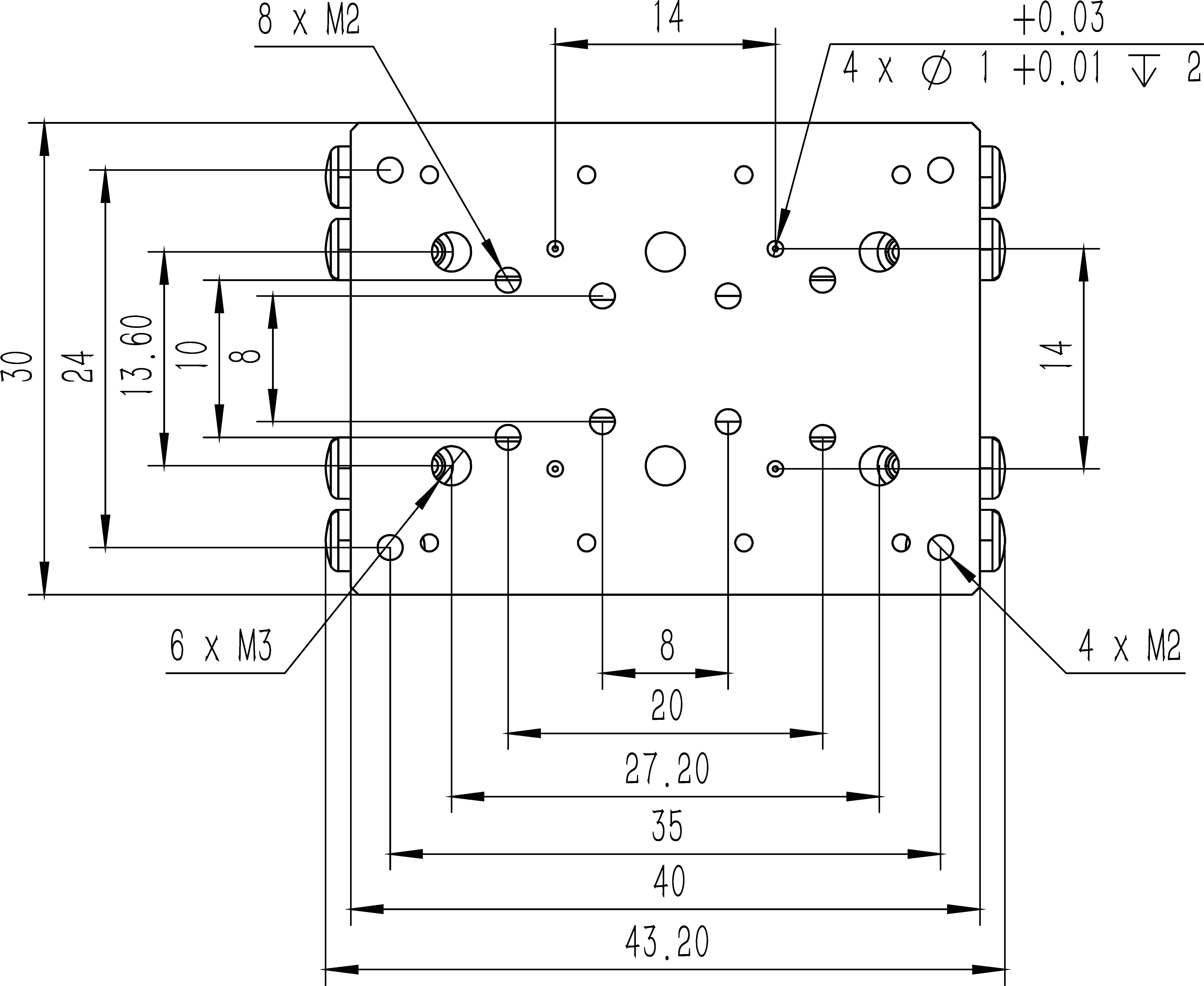 直线纳米位移MF30-30A尺寸1