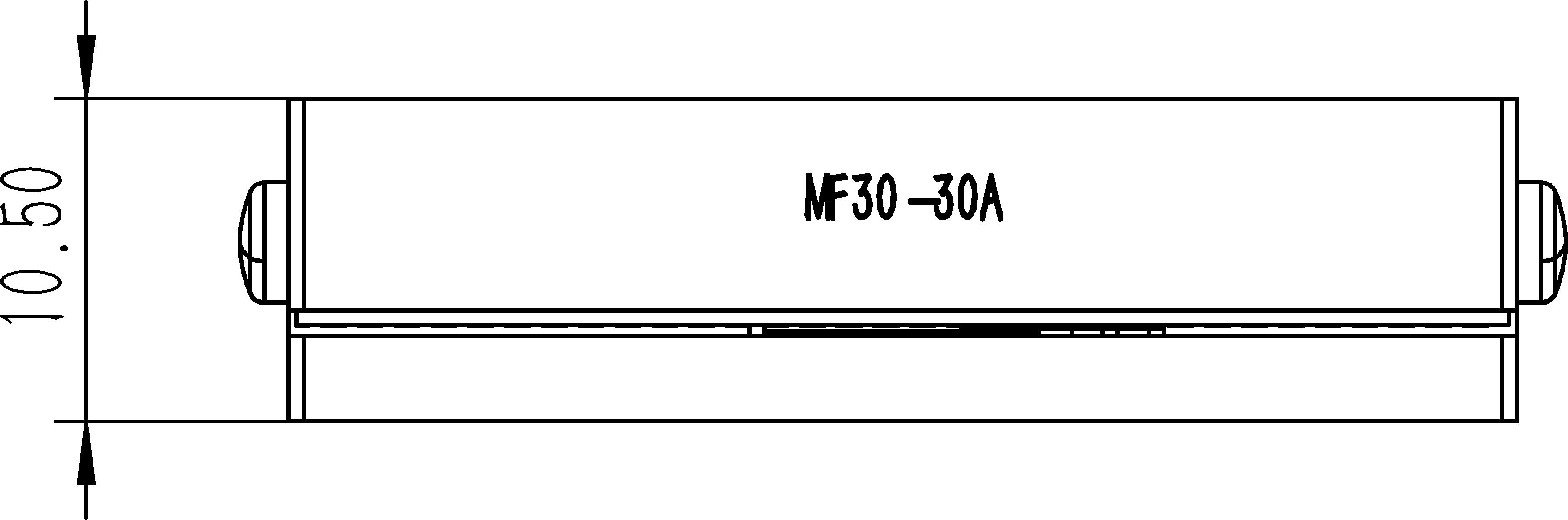 直线纳米位移MF30-30A尺寸3