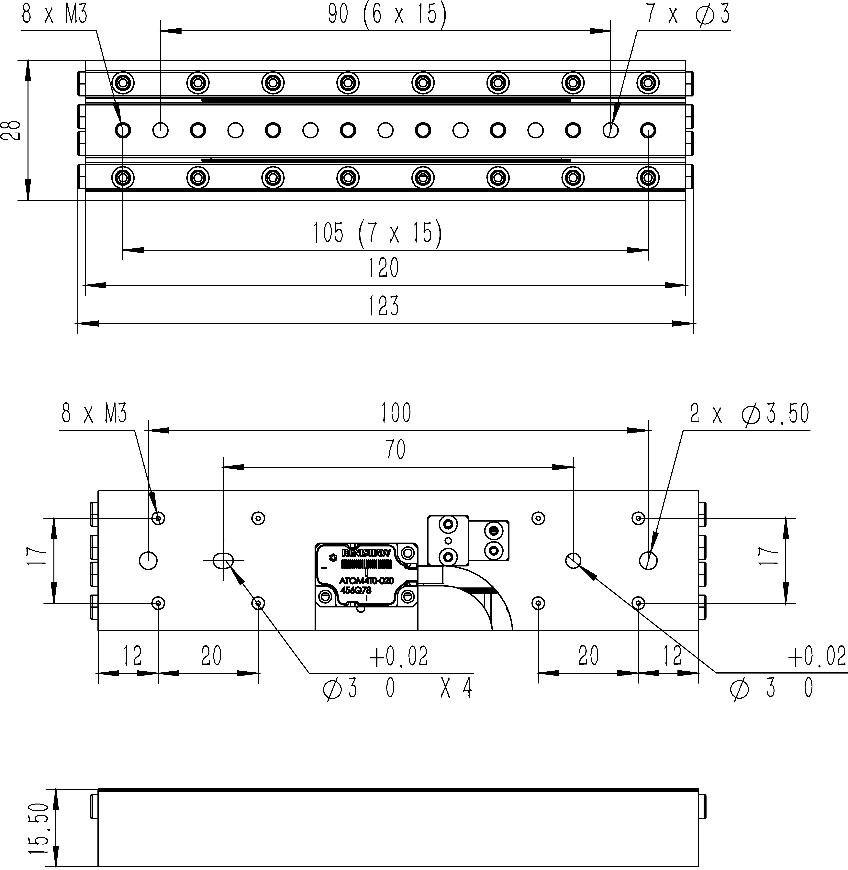 直线纳米位移ML-92A尺寸图